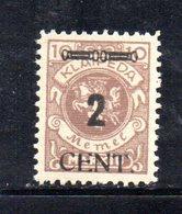 XP4473 - LITUANIA MEMEL KLAIPEDA 1923 , Unificato N. 169  Nuovo *  (2380A) . - Lituanie