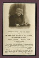 """LORRAINE  : """" BARONNE MAURICE DE RAVINEL """"  (photo)  1918 - Devotion Images"""