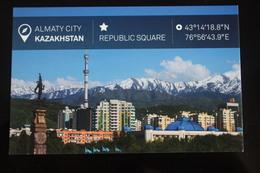 KAZAKHSTAN. ALMATY Capital.  REPUBLICAN SQUARE - Modern Postcard - Kazakhstan