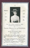 """LORRAINE  : """" JEANNE MECHTILDE DE ROZIERES """"  (photo)  1901 - Devotion Images"""