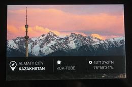KAZAKHSTAN. ALMATY Capital.  KOK TOBE TV Tower - Modern Postcard - Kazakhstan