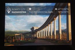 KAZAKHSTAN. ALMATY Capital.  PRESIDENTIAL PARK - Modern Postcard - Kazakhstan