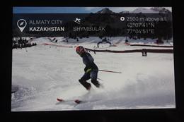 KAZAKHSTAN. ALMATY Capital.  SHYMBULAK Ski Resort  - Modern Postcard - Kazakhstan