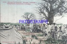 109153 AFRICA SENEGAL DAKAR COSTUMES CAMPAMENTO OF COLONIAL INFANTRY CIRCULATED TO ARGENTINA POSTAL POSTCARD - Non Classés