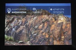 KAZAKHSTAN. ALMATY Capital.  TAMGALY Ancient Petroglyphs UNESCO  - Modern Postcard - Kazakhstan