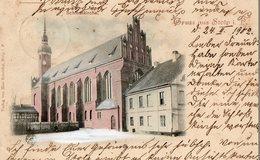GRUSS AUS STOLP  ( SLUPSK, Pologne ), écrite En 1902 - Schlosskirche - Pologne