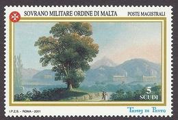 SMOM 2001 - Art, Paintings, Temples Of Pesto - Paestum (Italy), Historic Site MNH - Malte (Ordre De)