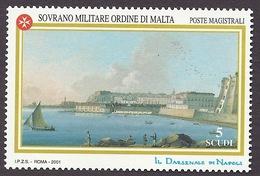SMOM 2001 - Art, Paintings, Il Darsenale Di Napoli, Neaples (Italy), Historic Site MNH - Malte (Ordre De)