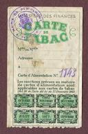 """REMIREMONT  (88) : """" CARTE DE TABAC  1947 """" - Documents Historiques"""
