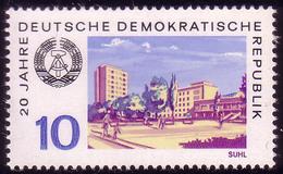 1502 20 Jahre DDR Thüringen-Tourist In Suhl 10 Pf ** - DDR