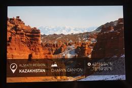 KAZAKHSTAN. ALMATY Capital.  CHARYN CANYON  - Modern Postcard - Kazakhstan