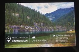 KAZAKHSTAN. ALMATY Capital. LAKE KAINDY - Modern Postcard - Kazakhstan