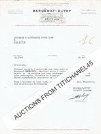 BRUXELLES Lettre 1947 - BERGERAT - DUTRY -Gros Matériel De Manutention, Mines, Carrières, Entreprises De Travaux Publics - Belgium