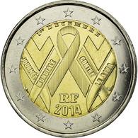 Monnaie, France, 2 Euro, Sida, 2014, SPL, Bi-Metallic - Frankreich
