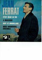 Jean FERRAT - BARCLAY 70613 - 45 T.Méd.- C'est Beau La Vie - A BRASSENS - Nuit Et Brouillard - Nous Dormirons Ensemble - - 45 T - Maxi-Single