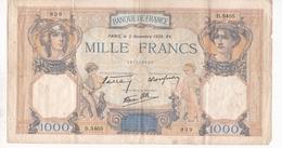 1000 FRANCS CERES ET MERCURE / 03/11/1938 - 1871-1952 Frühe Francs Des 20. Jh.
