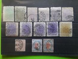 BRASIL / BRAZIL / BRESIL 1889 - 1893 Republica, 14 Timbres Obl / Neuf Yvert 68 (*),69,70,71,75,77,78 Avec Nuances Format - Brésil