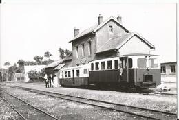 Photo - Thème Chemin De Fer- VFIL - Gare D' Hucqueliers -  Berck Plage - Tirage Original - Bazin Photo - Trains
