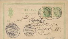 61-691 Danmark Denmark Dänemark Brev-kort Sent To Zürich Switzerland 1895 - 1864-04 (Christian IX)