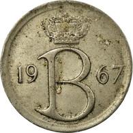 Monnaie, Belgique, 25 Centimes, 1967, Bruxelles, TB, Copper-nickel, KM:154.1 - 02. 25 Centimes
