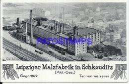 109164 GERMANY SCHKEUDITZ LEIPZIGER MALZFABRIK FACTORY NO POSTAL POSTCARD - Germania
