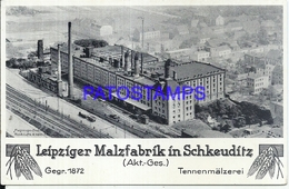109164 GERMANY SCHKEUDITZ LEIPZIGER MALZFABRIK FACTORY NO POSTAL POSTCARD - Allemagne