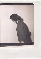 Photo ( 24 X 18 Cm ) Jeune Femme De Profil - Personnes Anonymes