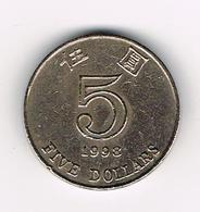 /   HONG KONG  5 DOLLARS  1998 - Hongkong