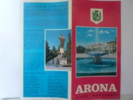"""Pieghevole """"ARONA Lago Maggiore""""  Assessorato Al Turismo Di Arona, Anni '60 - Dépliants Touristiques"""