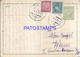 109165 CZECH REPUBLIC CADCA YEAR 1939 CIRCULATED TO AUSTRIA POSTAL STATIONERY C/ POSTAGE ADDITIONAL POSTCARD - Tchéquie