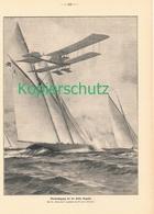 174 Zeno Diemer Marineflugzeug Kieler Regatta Schiffe Ca. 20 X 30 Cm 1914 !! - Drucke