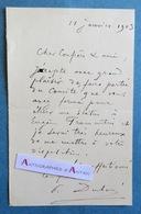 L.A.S 1903 Paul DUBOIS Sculpteur Peintre Comité Statue Eugène Fromentin - Né à Nogent-sur-Seine - Lettre Autographe LAS - Autographes