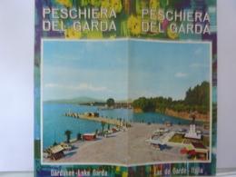 """Pieghevole Illustrato  """"PESCHIERA DEL GARDA Garsasee - Lake Garda"""" Anni '60 - Dépliants Touristiques"""