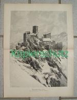177 Zeno Diemer Ruine Hohen Eppan Bozen Großbild Ca. 28 X 36 Cm 1902 !! - Drucke
