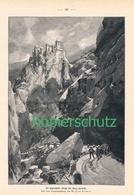 179 Zeno Diemer Burg Karneid Eggental Bozen Ca. 21 X 28 Cm 1897 !! - Drucke