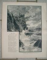 181 Zeno Diemer Porto Venere La Sezia Ca. 27 X 36 Cm 1897 !! - Drucke