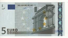 "5 EURO  ""N""  Austria   Firma Duisenberg     F 002 E5  /  FDS - UNC - EURO"