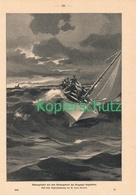 182 Zeno Diemer Bregenzer Segel-Club Rettungsboot Ca. 21 X 29 Cm 1900 !! - Drucke