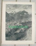 184 Zeno Diemer Wenns Pitztal Tirol Kunstblatt Ca. 28 X 35 Cm 1897 !! - Drucke