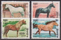Faune - Chevaux De Race - KAMPUCHEA - Cob Normand - Pur Sang Arabe - Poney Australien - Cheval D'attelage - 1987 - Kampuchea
