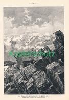 187 Zeno Diemer Breslauer Hütte Ötztal Bergsteiger Ca. 21 X 30 Cm 1899 !! - Drucke