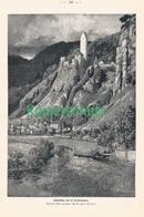 188 Zeno Diemer Kipfenberg Burg Teufelsmauer Ca. 21 X 30 Cm 1898 !! - Drucke