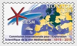 Monaco - Postfris/MNH - 100 Jaar CIESM 2019 - Monaco