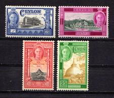 CEYLON    1947    Inauguration  Of  New  Constitution    Set  Of  4    MNH - Ceylon (...-1947)