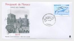 Monaco - Postfris/MNH - FDC Atlantische Tonijn 2019 - Monaco