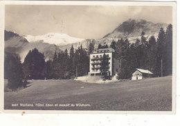 MONTANA SUR SIERRE : CLICHE ARGENTIQUE DE L ' HOTEL EDEN ET MASSIF DU WILDHORN.1915.T.BON ETAT.PETIT PRIX.COMPAREZ!!! - VS Valais