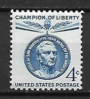 United States  1959 Champion Of Liberty - José De San Martin   MNH - United States