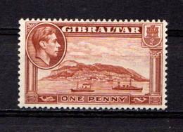 GIBRALTAR    1938    1d  Yellow  Brown    Perf  13      MNH - Gibraltar
