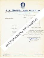 BRUXELLES - Lettre De 1952 - PRODUITS HABI BRUXELLES - Fabrique De Spécialités Alimentaires De Qualité - Belgium