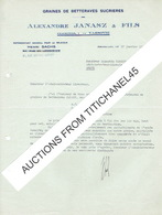 BRUXELLES - Lettre 1939 - Alexandre JANASZ & FILS (VARSOVIE) -Graines De Betteraves Sucrières - Henri SACHS Représentant - Belgique